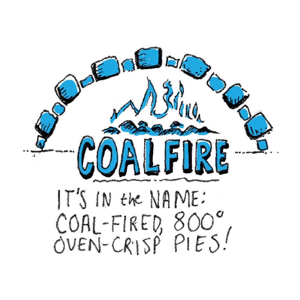 illustration of coalfire pizza chicago