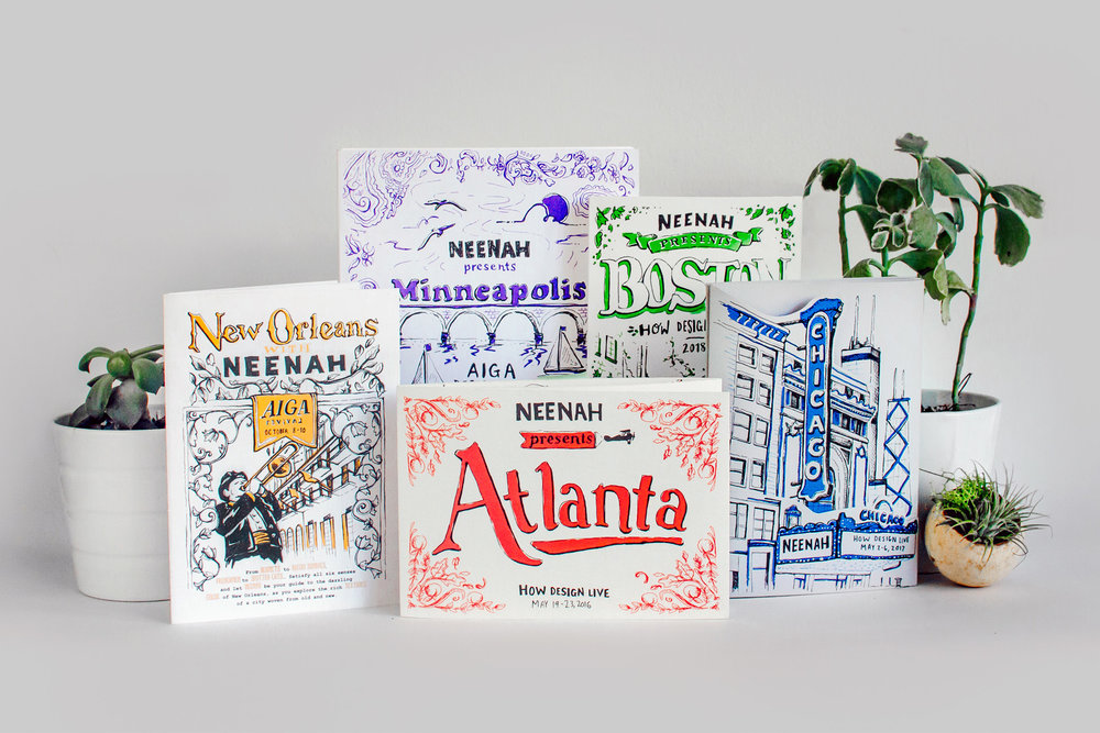Illustrated cities is a graphic design project by freelance illustrator Russell Shaw that features hand drawn and hand lettered maps of Atlanta, Boston, Chicago, New Orleans, Minneapolis and New York City.