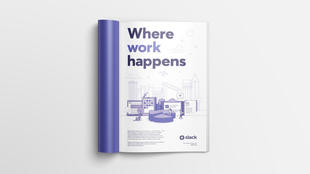 slack national magazine ads