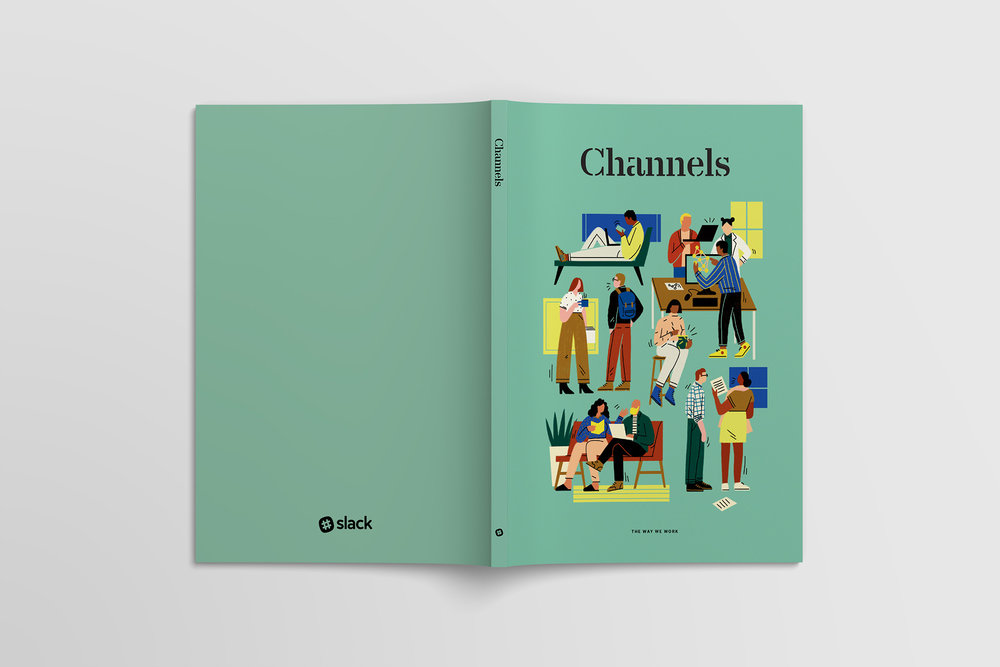 Slack Channels magazine cover front and back