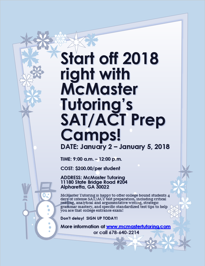 McMaster Tutoring WINTER 2017-2018 SAT-ACT CAMP.png