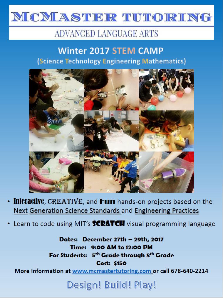 McMaster Tutoring Winter 2017 STEM Camp Flyer.png