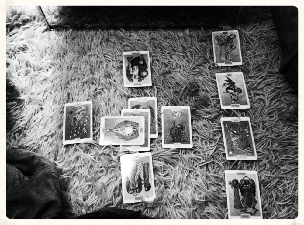 I learned to read Tarot. San Francisco, January 2014.