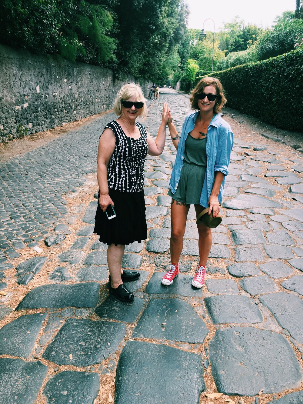 Rome, August 2016.  Weight 125, ZERO BRUISES ON MY BODY, shitting solid once or twice!! a day, happy as fucking fuck. With MY MOMMY who I used to not be able to be around because when you want to die it's hard to be around your mommy. In other words. TIME WORKS.