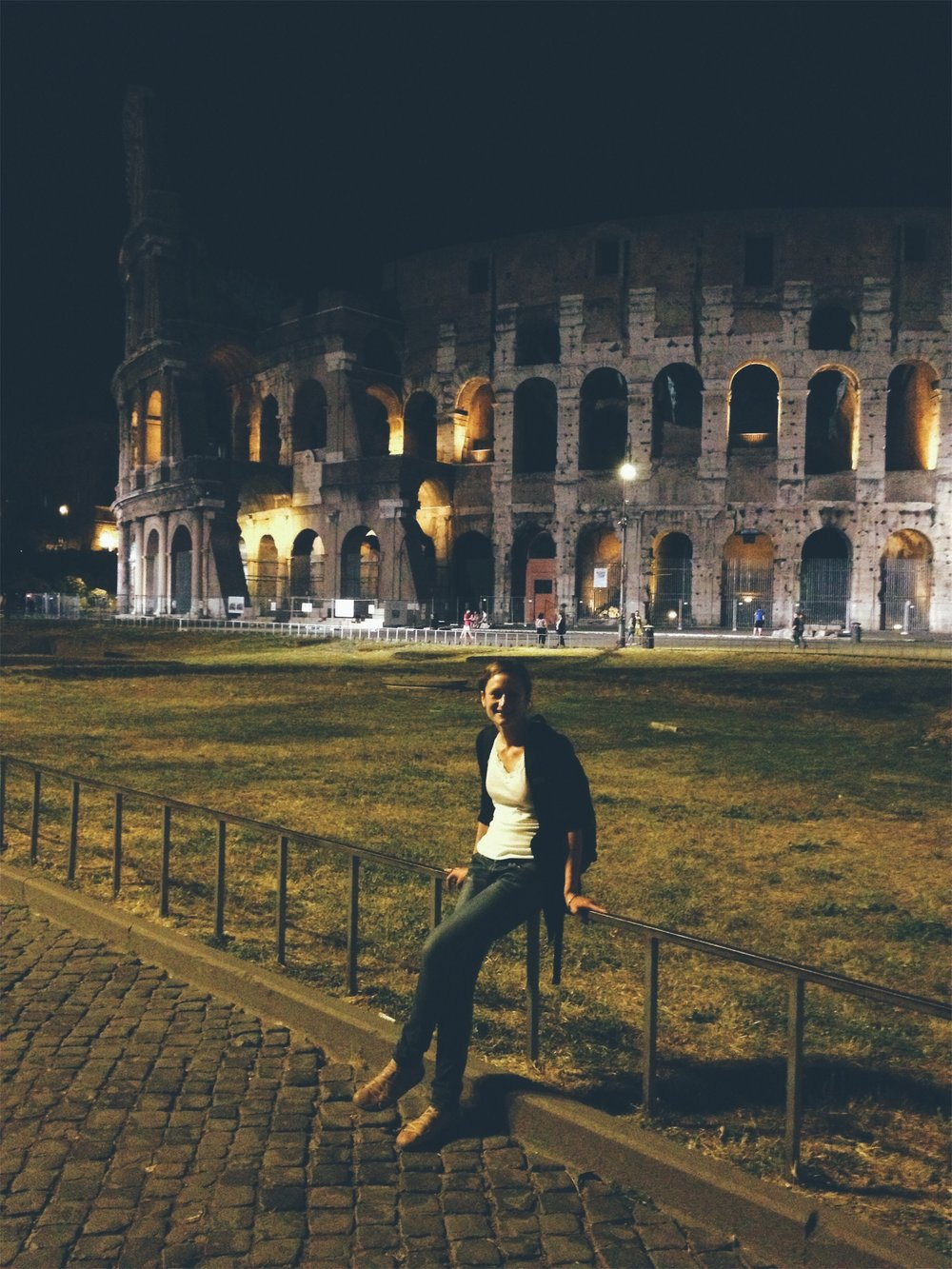 Rome, 2013. Living my best sober life.