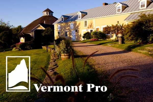 The historic Inn at Round Barn Farm, Waitsfield, Vermont.