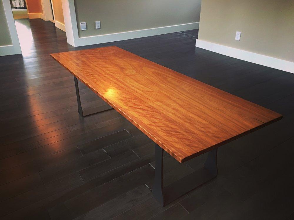 Custom Cherry Table. Vermont Pro Construction.JPG