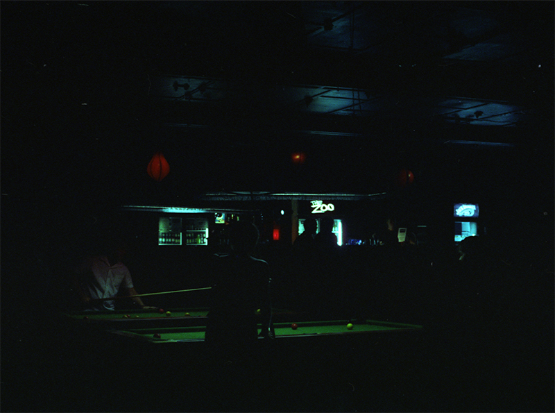 The Zoo. Bar. Fortitude Valley. Cinestill 800 (tungsten).