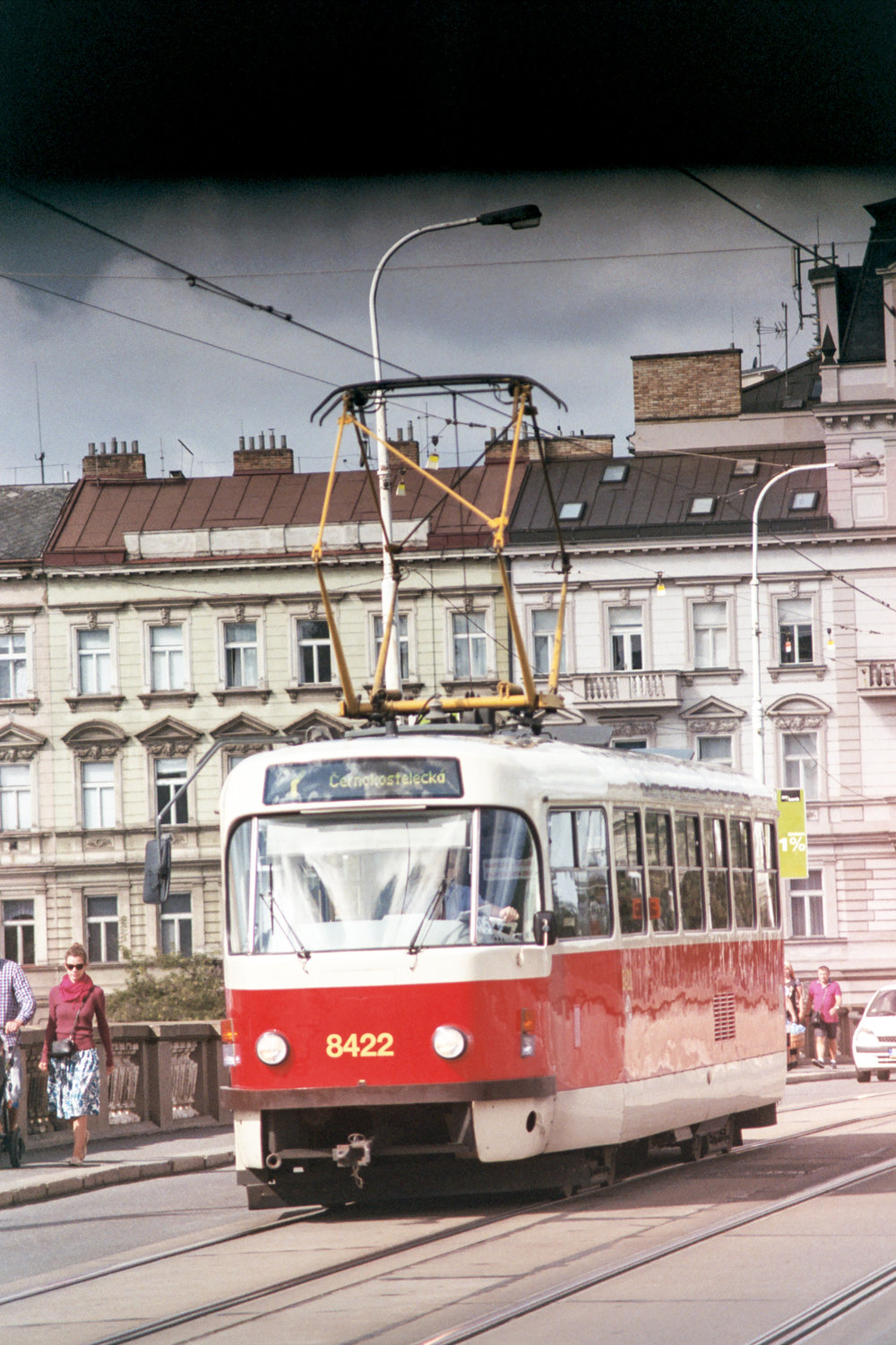 Love these old Eastern European styled trams