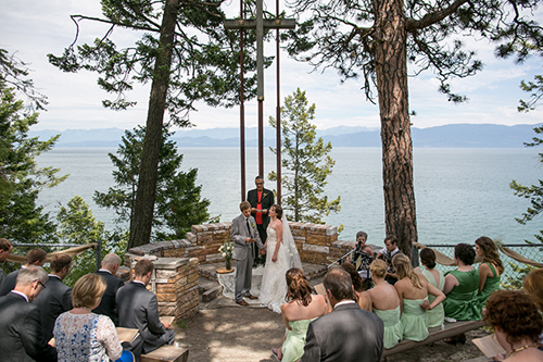 spruce lodge flathead lake montana wedding ceremony 2