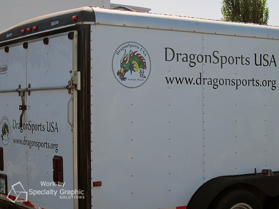 Trailer graphics for Dragon Sports.