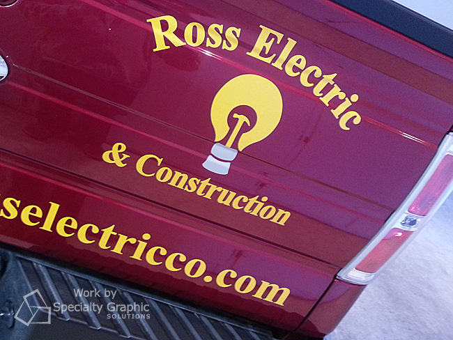 Logo and lettering for Ross Electric.