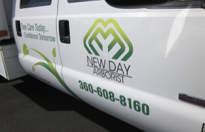 truck decals - new day arborist ridgefield washington