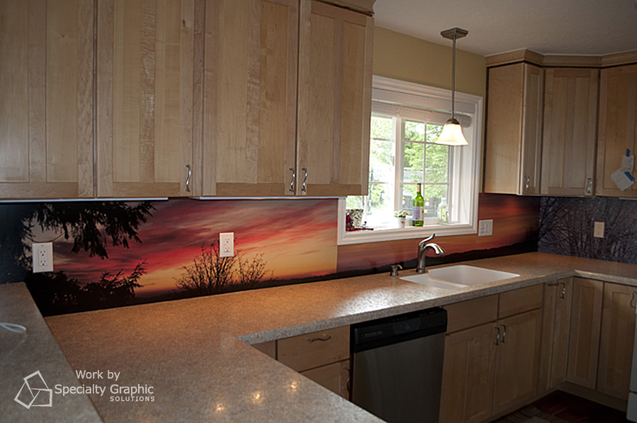 Kitchen backsplash.
