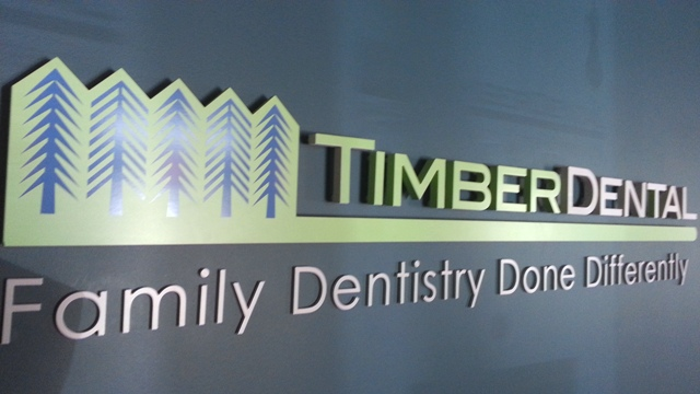 Timber Dental Dimensional Lobby Sign