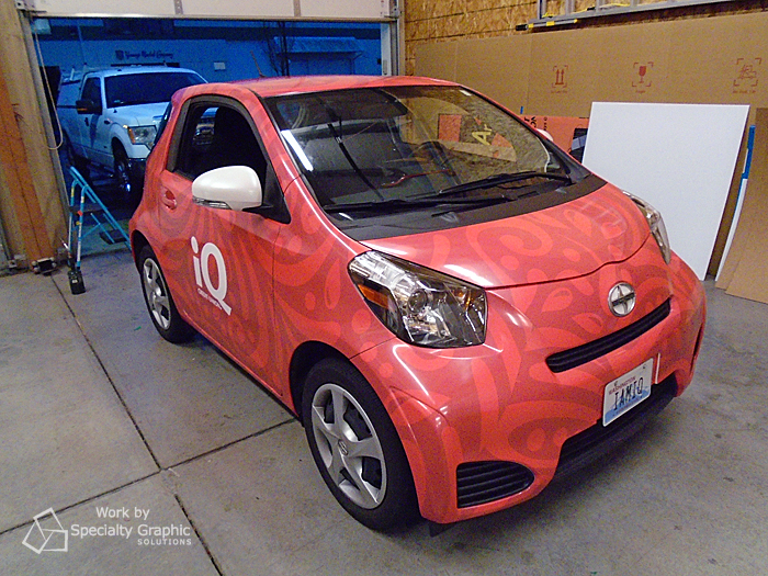 full wrap on nissan iq for iq credit union.jpg