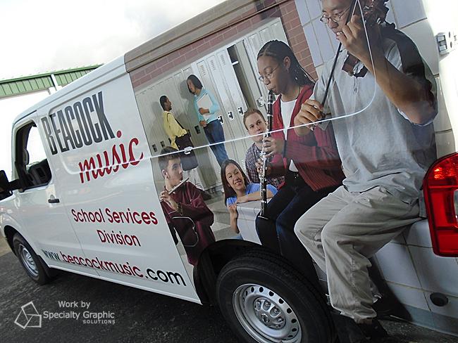 Music store van wraps