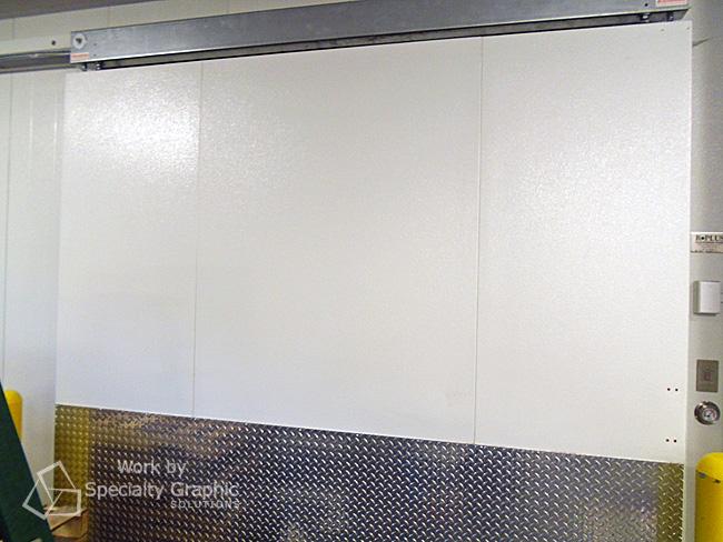 The blank white freezer...