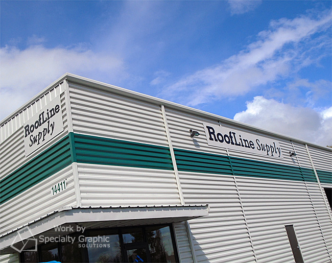 New signs on Roofline Supply's new building in Vancouver WA.jpg