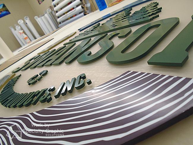 Lobby Sign fabrication Longview WA