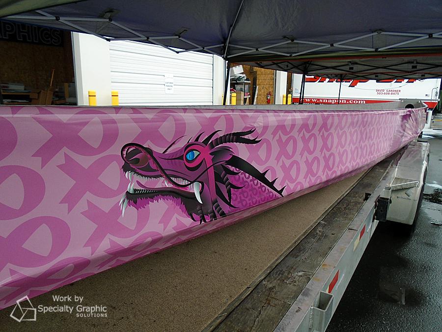 Pink Dragon Boat Wraps Vancouver WA