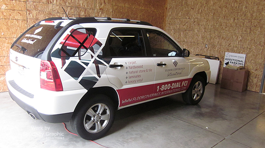 Vehicle vinyl lettering and graphics Vancouver WA