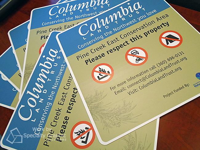 Aluminum Property Signs Vancouver WA