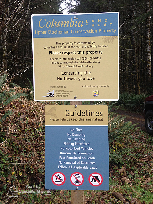 Metal Wayfinding Signs for Parks in Vancouver WA