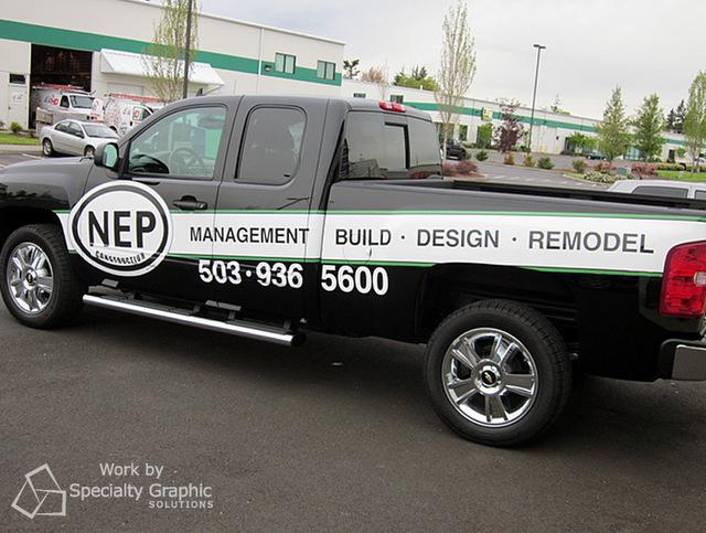Fleet vehicle graphics for Vancouver WA