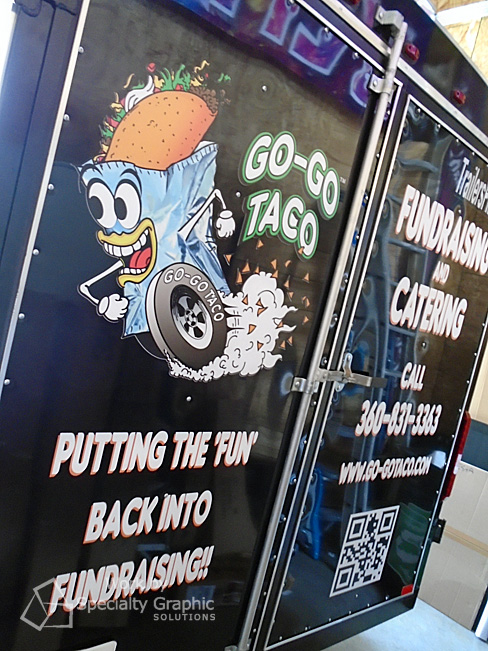 Food and catering vehicle wraps Vancouver wA