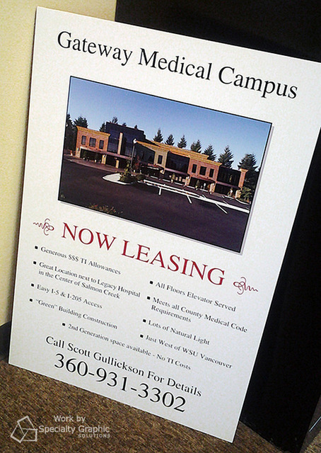 Leasing signs for Vancouver WA