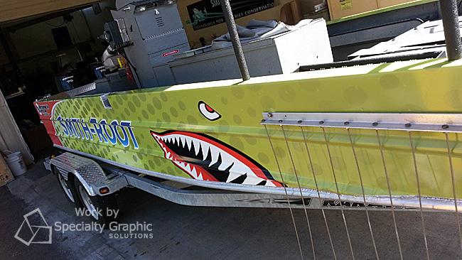 Boat ad fishing boat graphics Vancouver WA