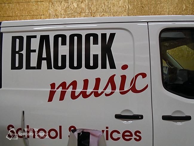vinyl lettering Beacock music.jpg