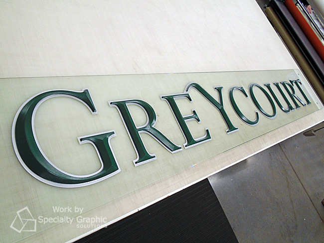 Refurbished Lobby Sign for Greycourt & Co's Portland OR office - ready for installation.jpg