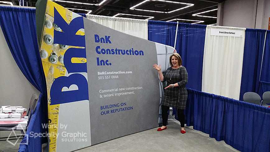 BnK Construction's new fabric backwall display - they're loving it at the Oregon Convention Center.jpg