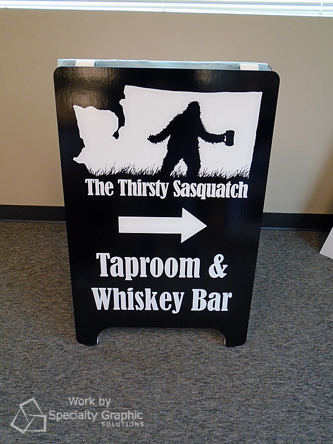 Deluxe Sandwich Board Sign for The Thirsty Sasquatch in Vancouver WA.jpg