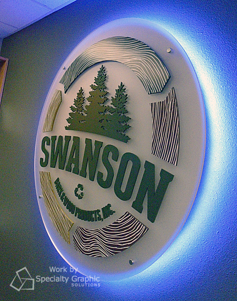 Backlit dimensional lobby sign by the mighty sign makers at SGS in Vancouver WA.jpg