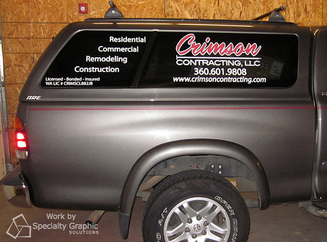 Vehicle vinyl lettering for Portland OR Contractors