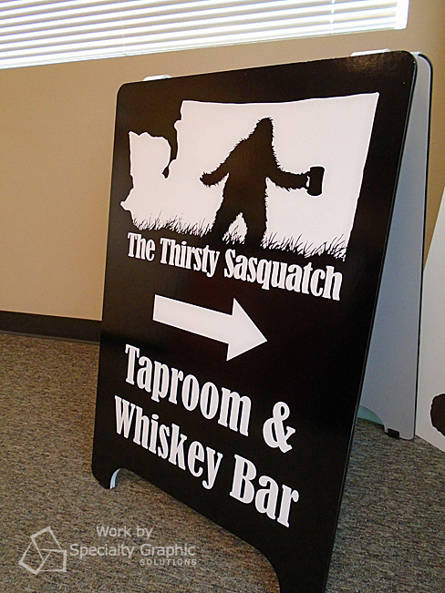 A Frame Sign for The Thirsty Sasquatch in Vancouver WA.jpg