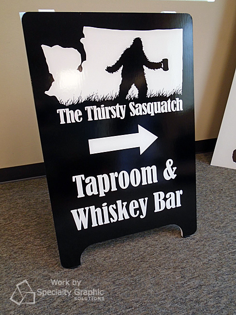 A Board Sign for The Thirsty Sasquatch in Vancouver WA.jpg