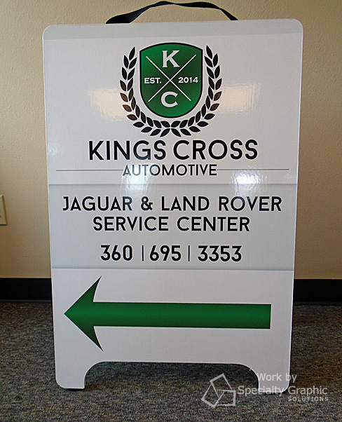 A Frame Sign for Jaguar & Land Rover Service in Vancouver WA.jpg