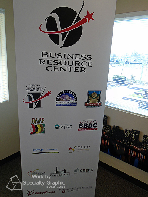 Pull up banner for new Vancouver Chamber Business Resource Center.jpg