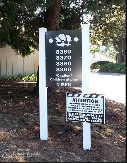 Vancouver WA post and panel signs