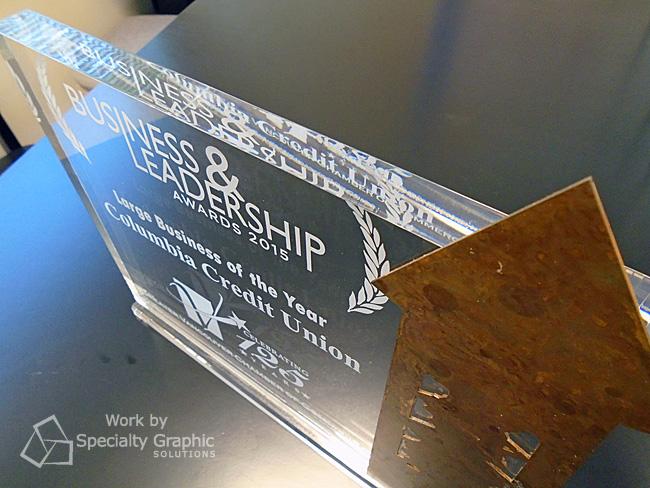 Custom awards Vancouver WA