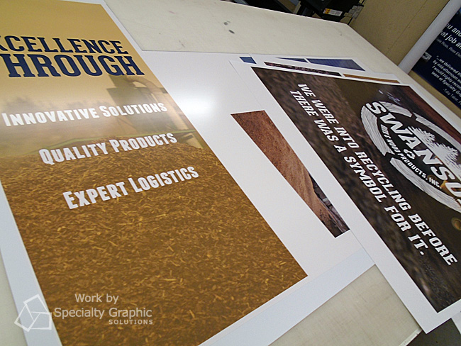 Fabricating trade show graphics and displays