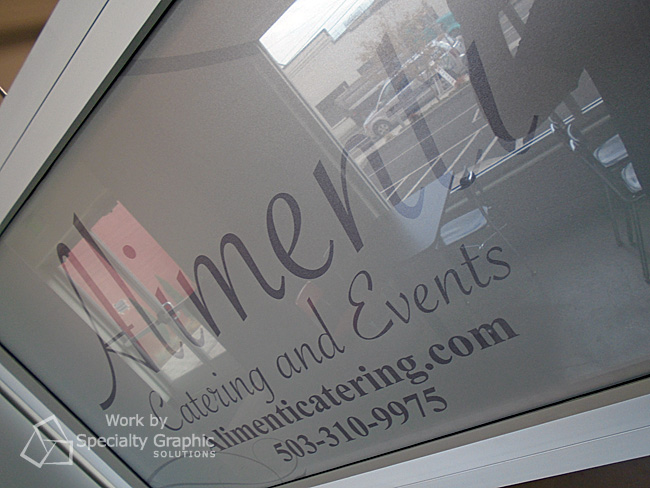 Frosted vinyl graphics for Alimenti Catering in Portland OR.jpg