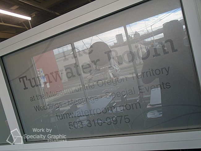 Frosted vinyl window graphics for the Tumwater Room in Oregon City, OR.jpg