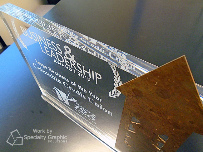 Custom Acrylic Awards for GVCC 2015 Business & Leadership Award winners.jpg