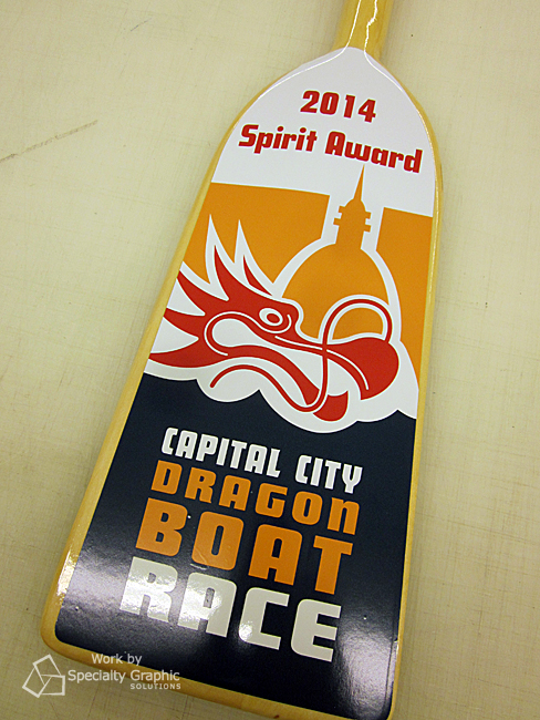 Graphic Paddle Awards for Dragon Boat Contests