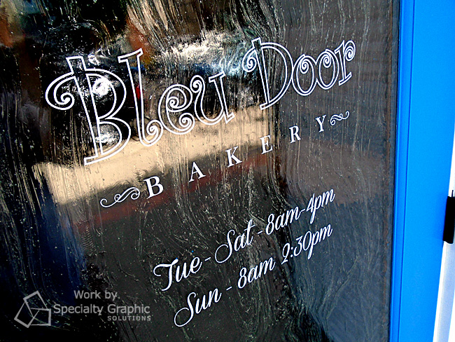 Door graphics for Bleu Door Bakery Vancouver WA.jpg